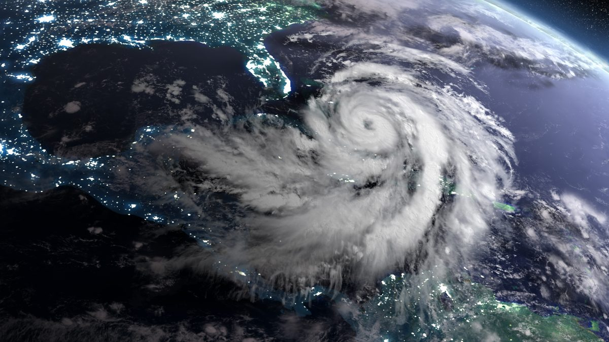 Hurricane In Caribbean From Space