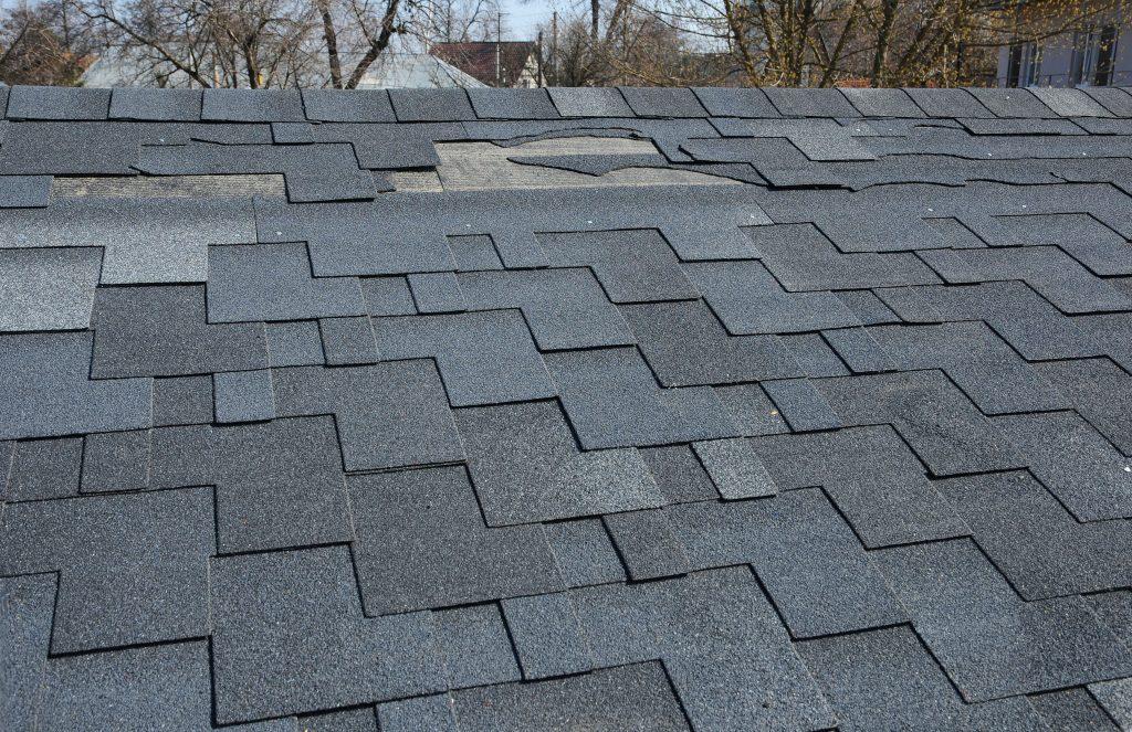 Damaged Shingle Roof