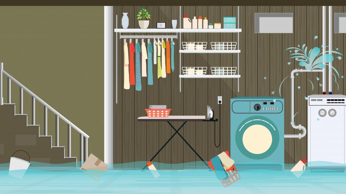Flooded Home's Basement