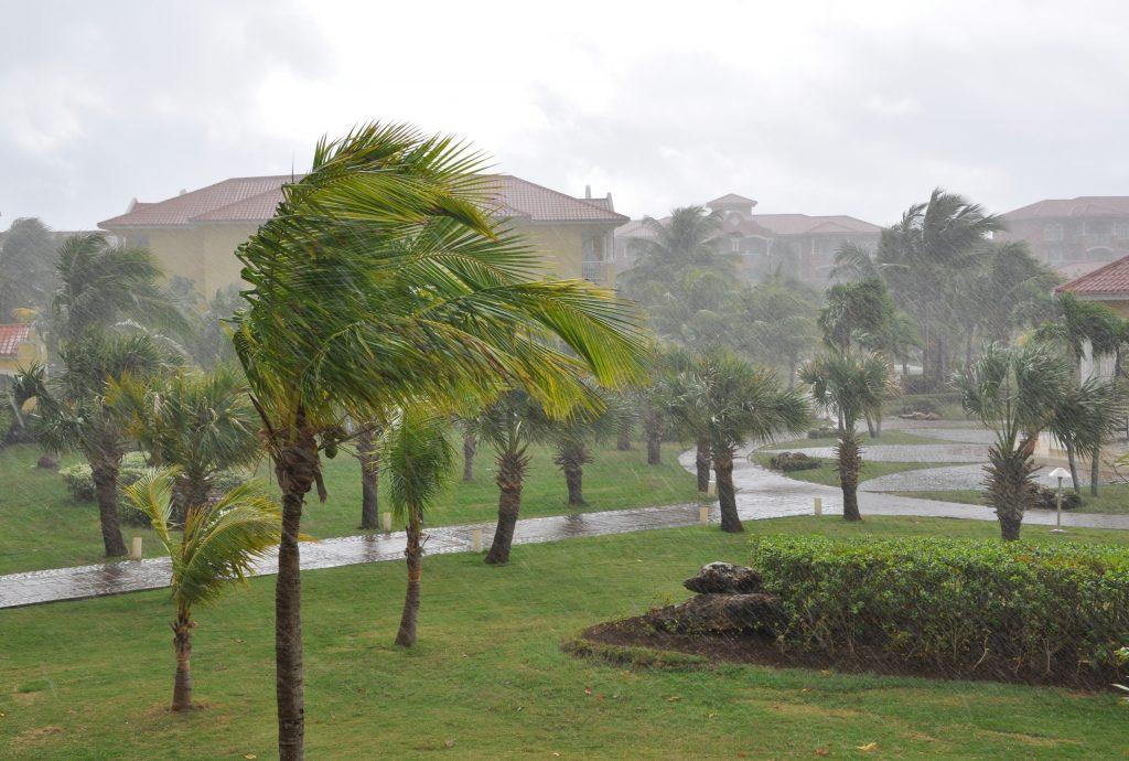 hurricane hitting a southwest Florida neighborhood