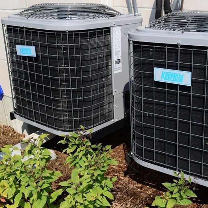 HVAC units outside of home