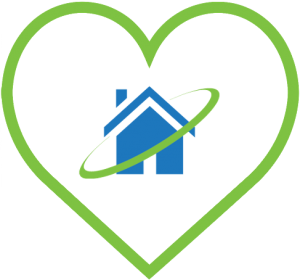 Heart and Halo Home Watch Logo Icon